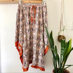 Valleygirl Skirts - Beautiful Handkerchief skirt with orange trim